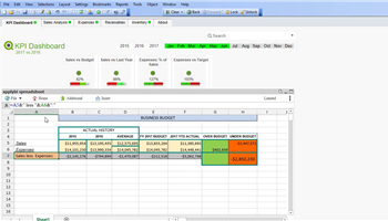 KlikSheet - QlikView spreadsheet extension just like Excel